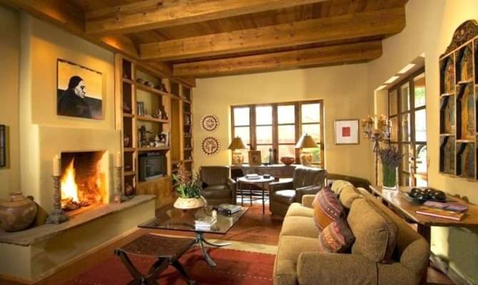 Main House Living Room Reflecting Southwest Warmth Style