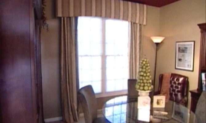 Make Fabric Covered Cornice Lined Window Panels Hgtv