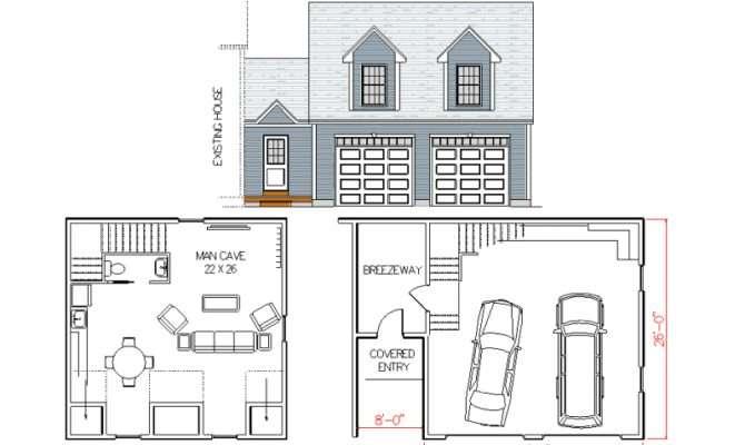 Man Cave House Plans Design