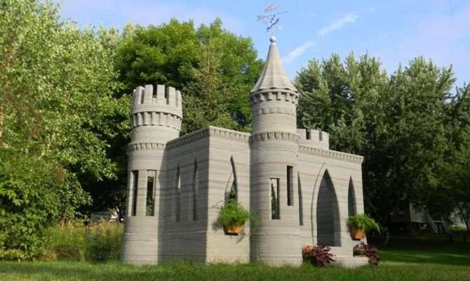 Man Prints Backyard Castle Plans Two Story House Next