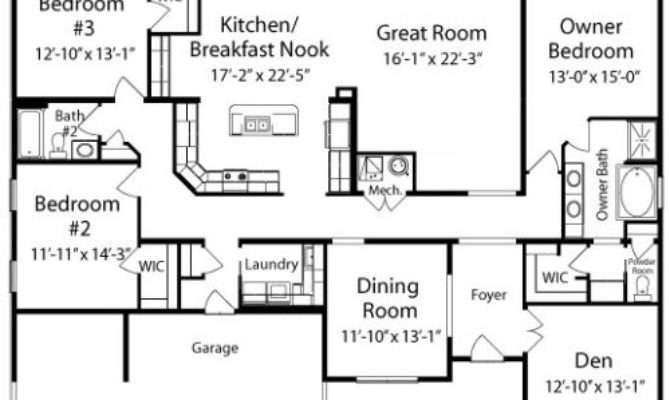 Manchester All American Homes Ranch Floorplan