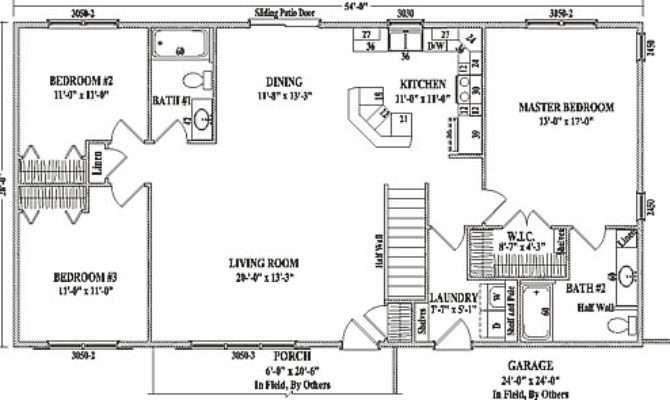 Mankato Wardcraft Homes Ranch Floorplan