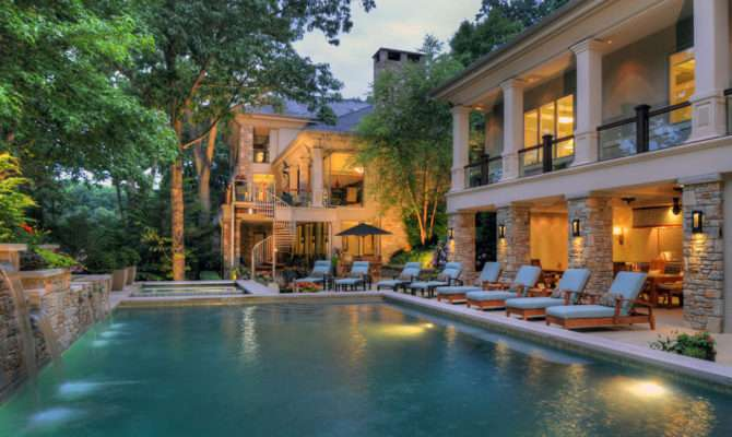 Mansions Pools Eclectic Design Beautiful