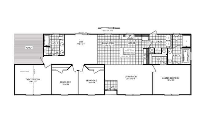 Manufactured Home Floor Plan Clayton Designer Choice Theatre
