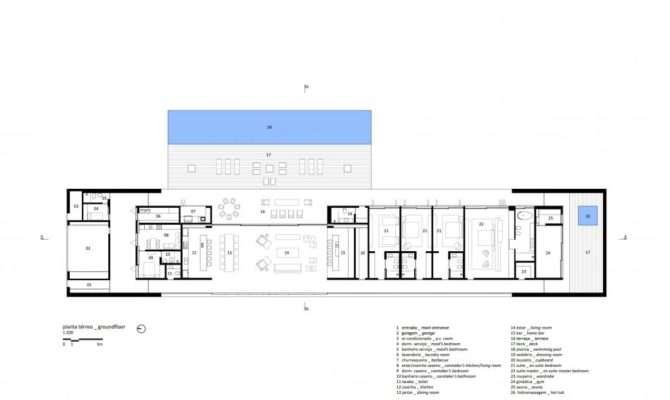 Marcio Kogan Casa Lee Concrete House Plans