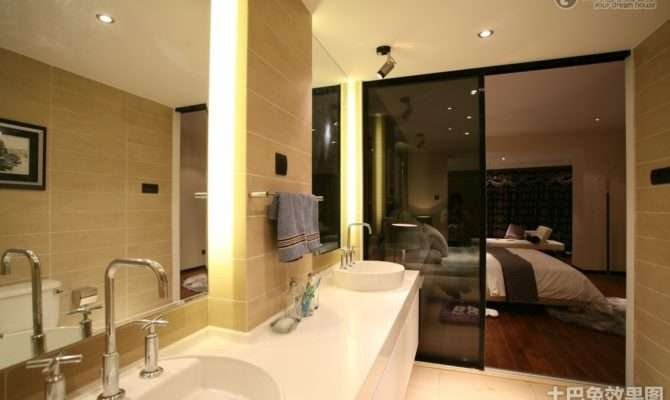 Master Bedroom Bathroom Decoration Design Effect Drawing