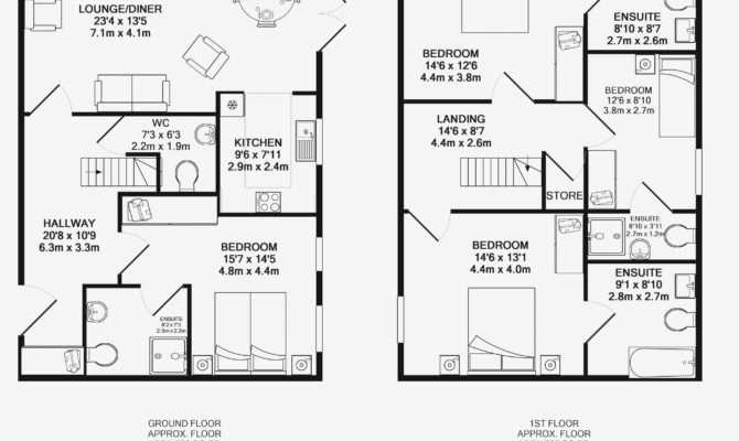Master Bedroom Ensuite Floor Plans Regarding House