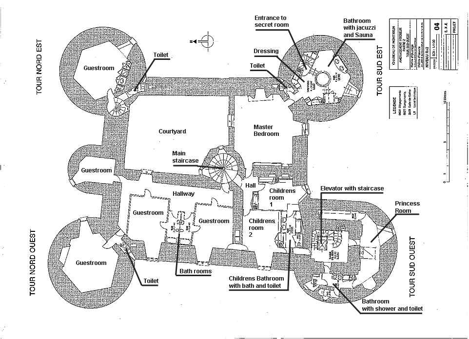 Medieval Castle Blueprints Montbrun French Chateau