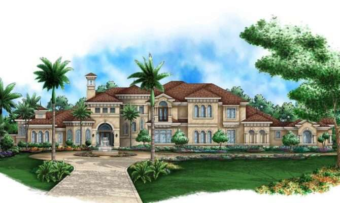Mediterranean Home Plans Two Story House