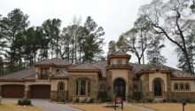 Mediterranean Home Tile Roof Stone Stucco Exterior