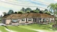 Mediterranean House Plan Glenridge Front Elevation