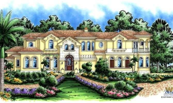 Mediterranean House Plan Luxury Story Home Floor