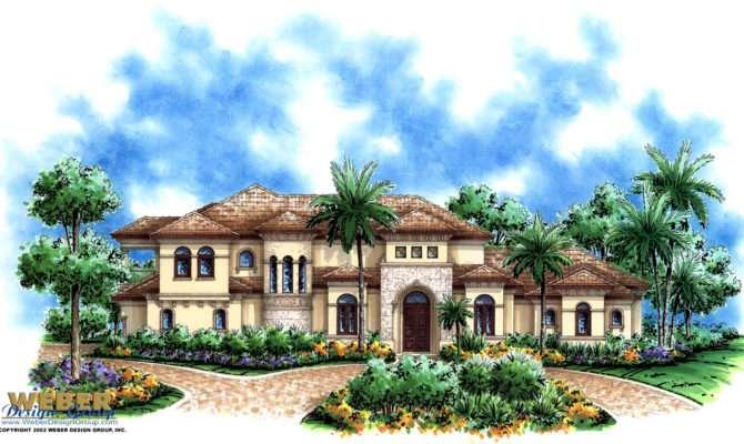 Mediterranean House Plan Luxury Story