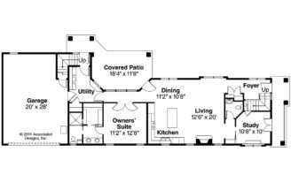Mediterranean House Plan Rimrock Floor