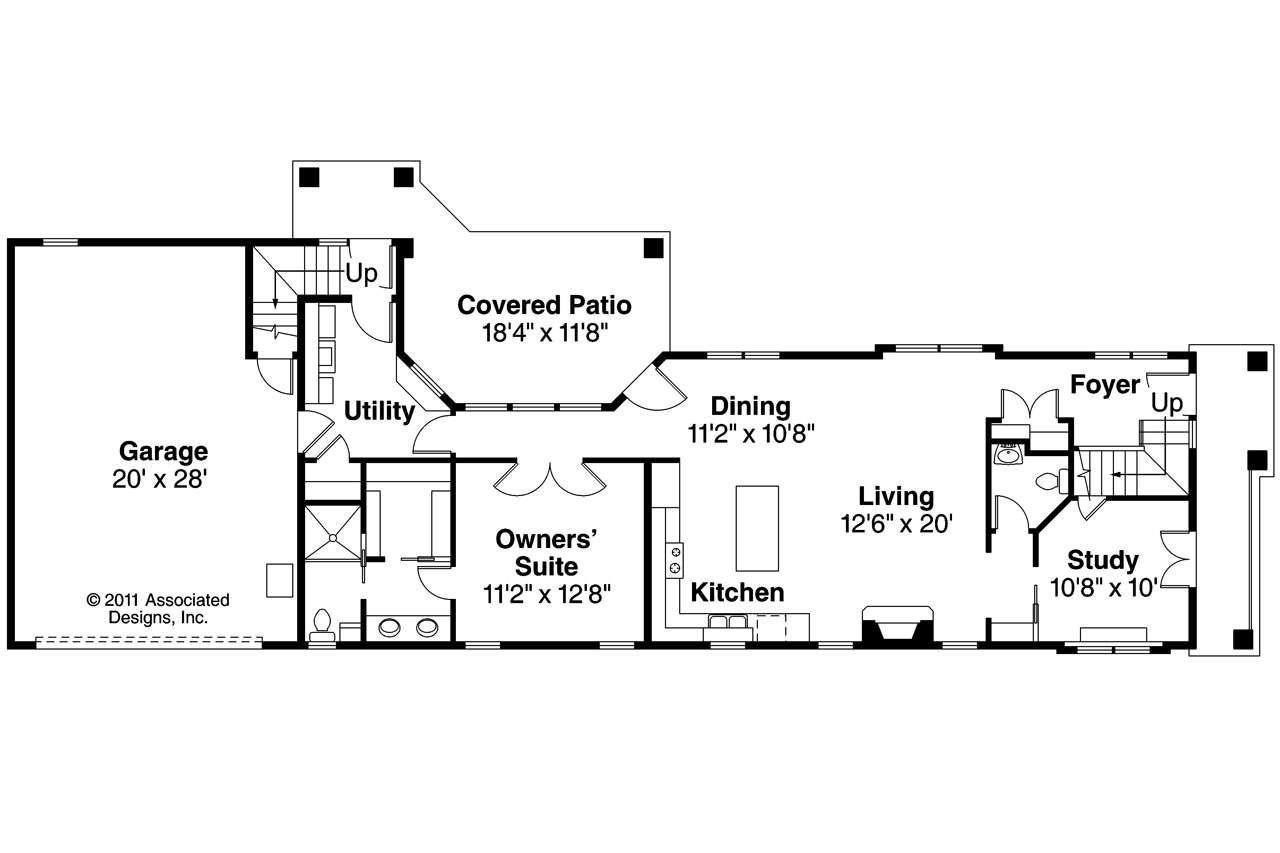 Mediterranean House Plan Rimrock Floor