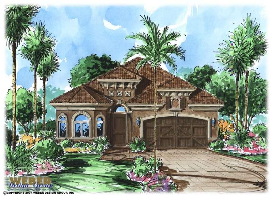 Mediterranean House Plan Tuscan Style Villa