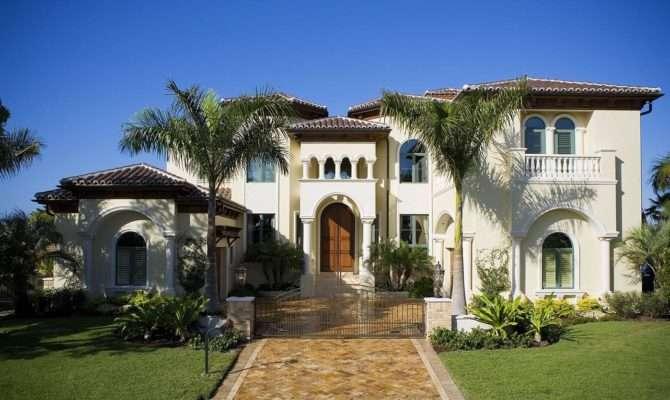 Mediterranean Landscaping Exterior Bird Key Estate Home