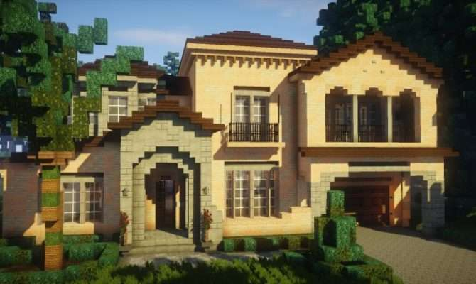 Mediterranean Style Traditional House Minecraft