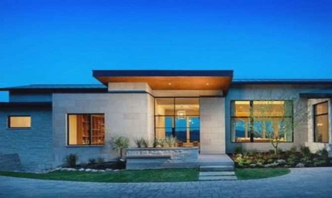 Mesmerizing Single Floor Modern House Plans One