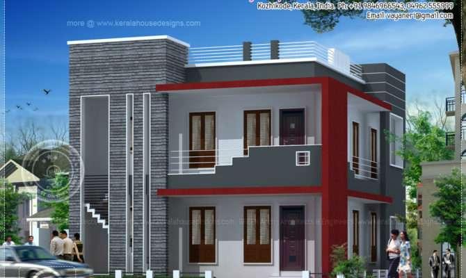 Meter Modern Villa Elevation Kerala Home Design Floor Plans