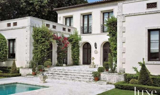 Miami Beach Mediterranean Revival Home Beautiful Homes Pinterest