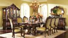 Michael Amini Chateau Beauvais Formal Dining Room Set Noble Bark Aico