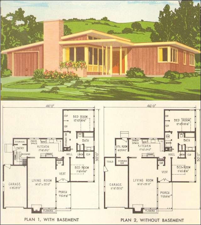 Mid Century Modern House Plan National