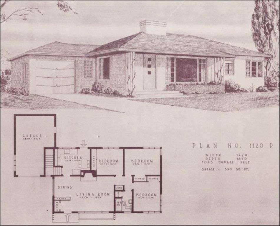 Mid Century Ranch House Plans Book Design Office