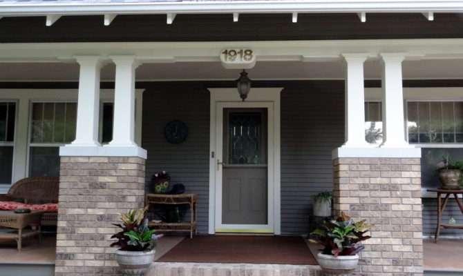 Milestone Craftsman Porch Columns Restored Delayne Peck