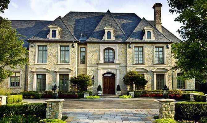 Million French Inspired Stone Mansion Dallas