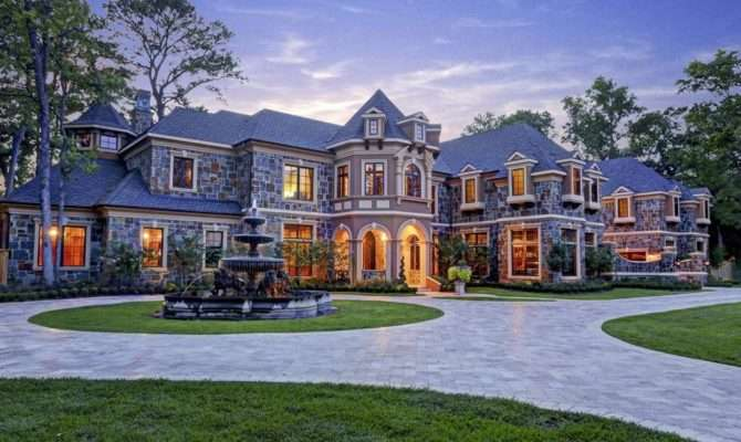 Million Newly Built Stone Stucco Mansion
