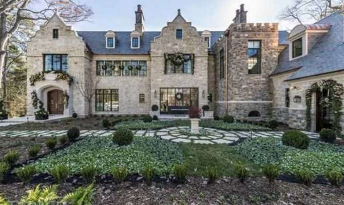 Million Newly Built Tudor Stone Mansion Atlanta