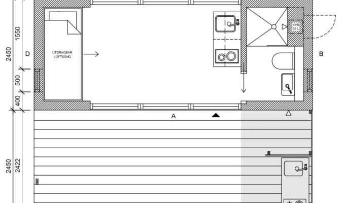Mini House Tiny Jonas Wagell Sweden Floor Plan