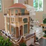 Miniature House Model Led Light Scale Villa
