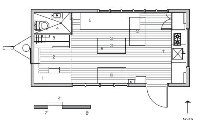 Minim Micro House Floorplan