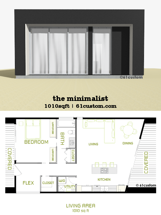 Minimalist Small Modern House Plan Custom