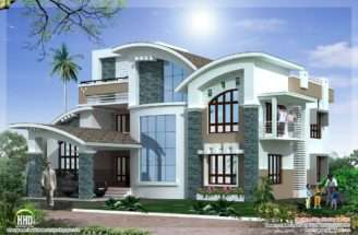 Mix Luxury Home Design Kerala Architecture House Plans