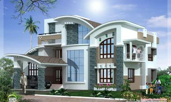Mix Luxury Home Design Kerala Architecture House Plans