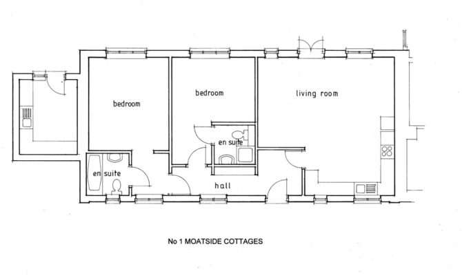 Moatside Cottages Floor Plan Newtimber Holiday