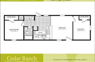 Mobile Home Floor Plans Bedroom Cavco Homes Plan