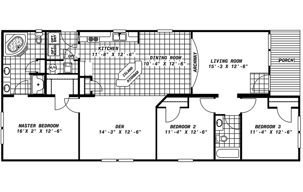 Mobile Home Floor Plans Porch Homes Ideas