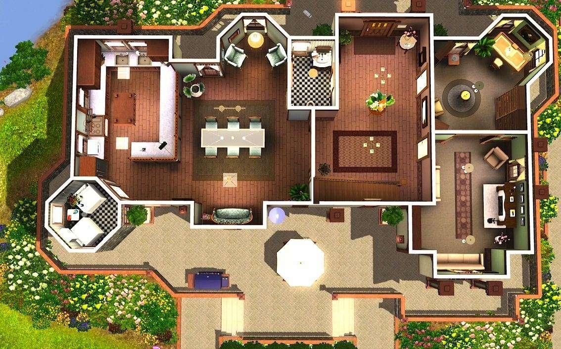 Mod Sims Alcester House Modern Mock Tudor