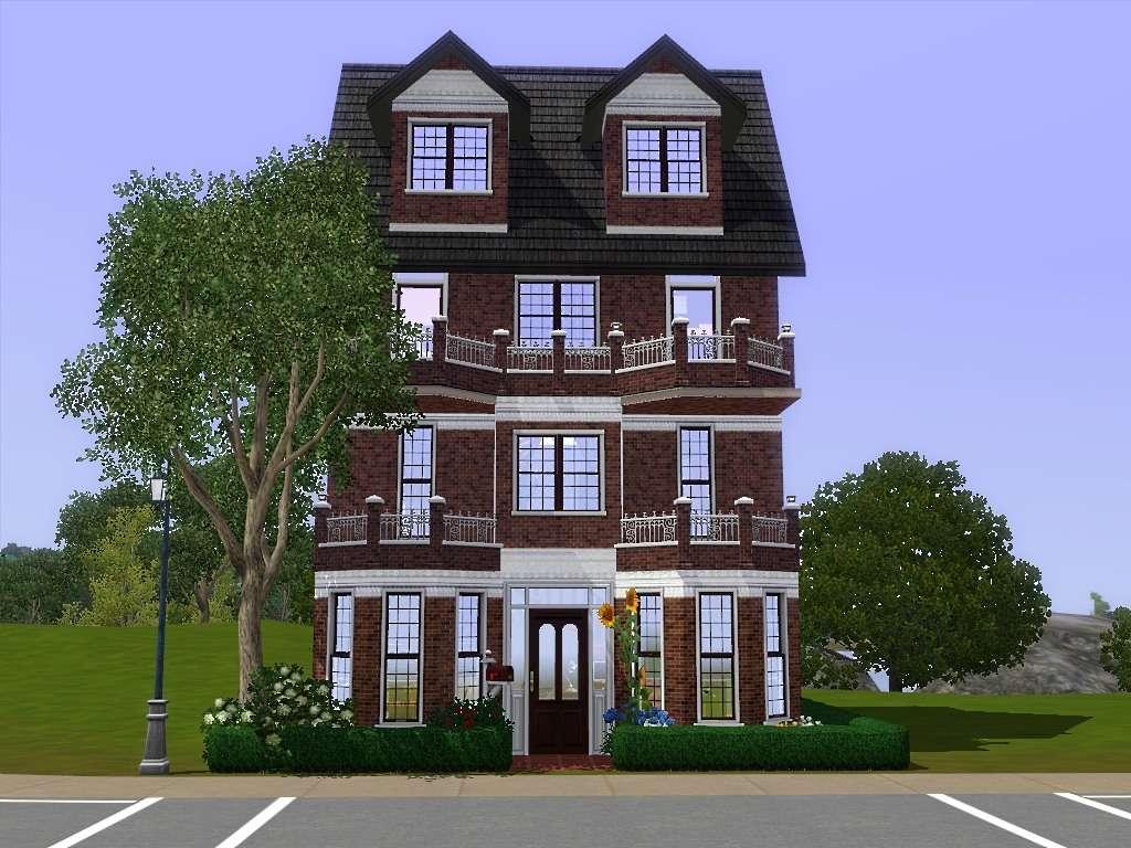 Mod Sims Comfy Townhouse Three Story House Bedrooms