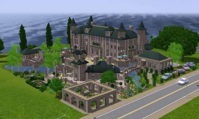 Mod Sims Fantasy Mansion