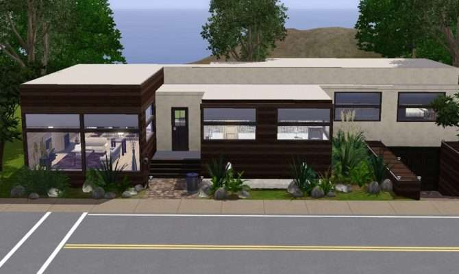 Mod Sims Hillside House