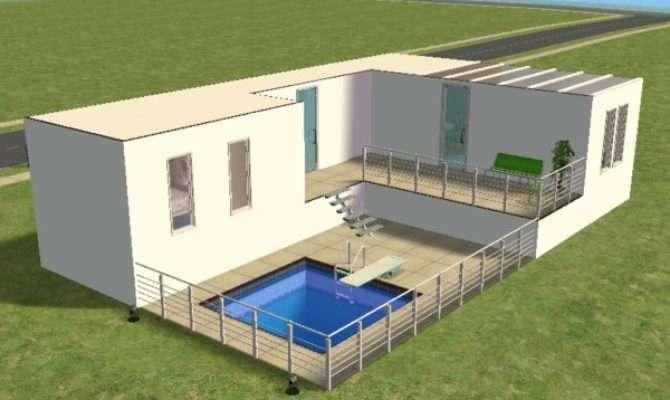 Mod Sims Modern Starter House Underground