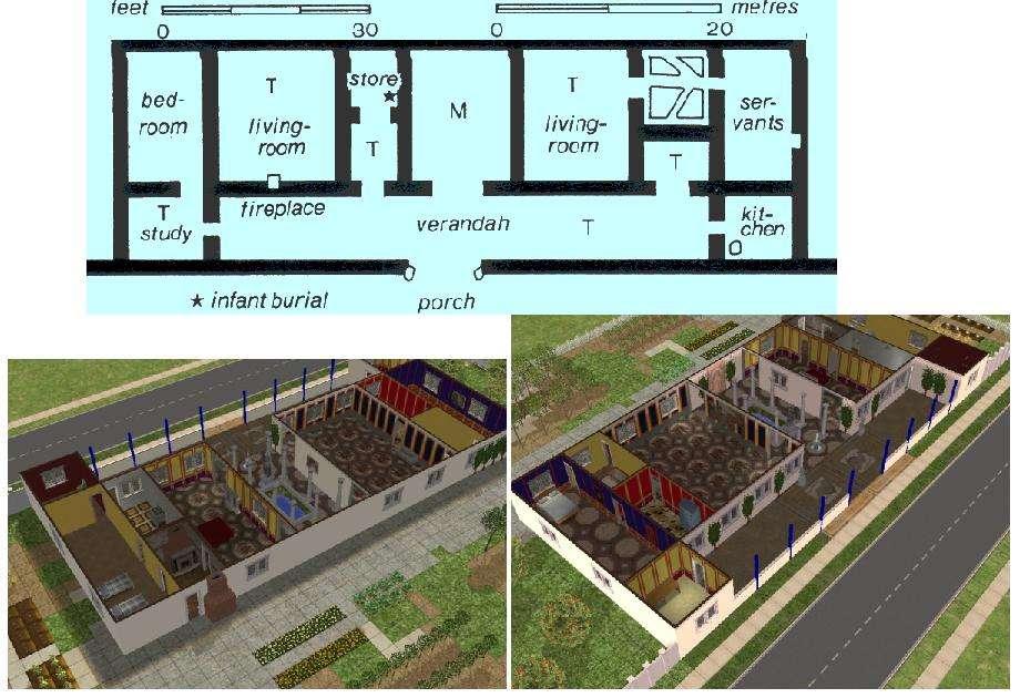 Mod Sims Simple Roman Villa Deco
