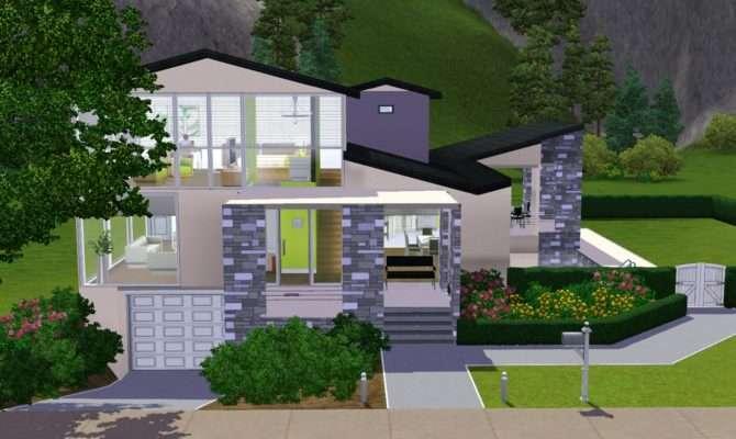 Mod Sims Underground Garage Stone Stucco Blvd