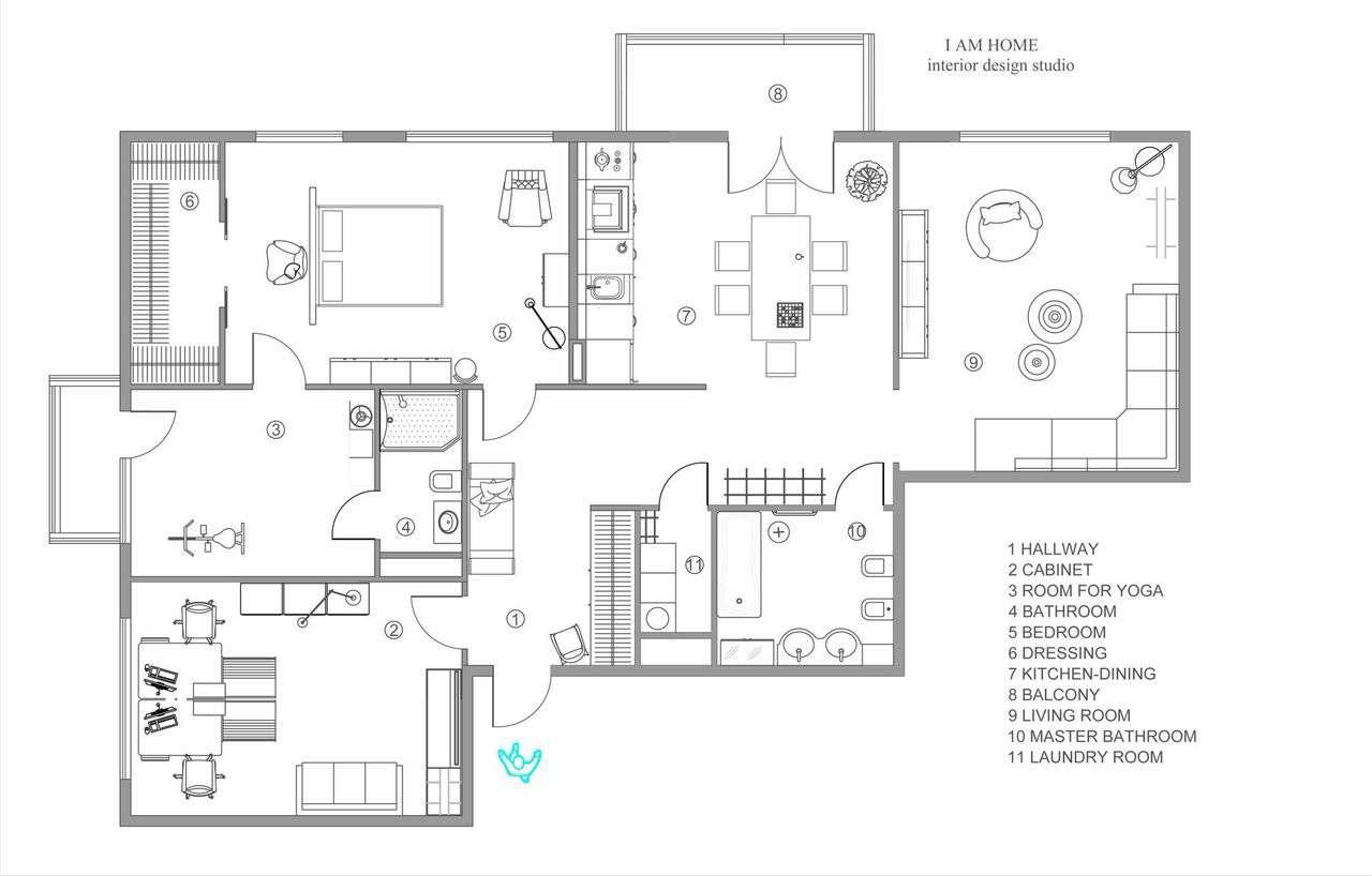 Modern Apartment Floorplan Interior Design Ideas