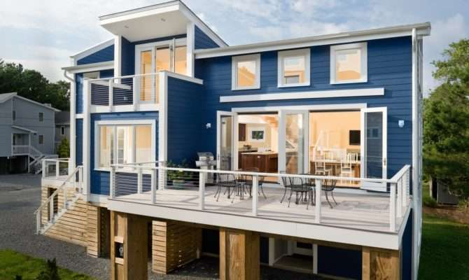 Modern Awesome Design Cool Houses Has Blue